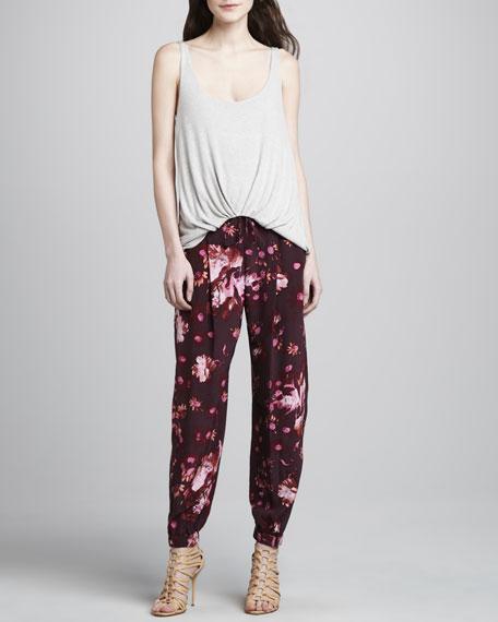 Walton Floral-Print Harem Pants