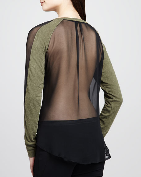 Sloane Sheer-Back Top