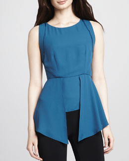 Elizabeth and James Laurence Asymmetric-Peplum Top