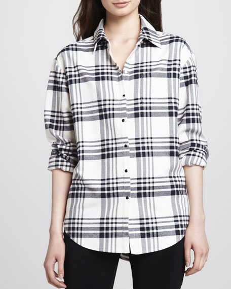 Pam Plaid Button-Down Shirt