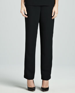 Caroline Rose Microfiber Straight-Leg Pants