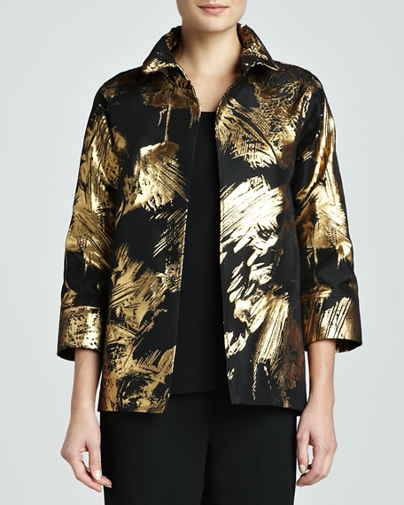 Abstract Painterly Printed Jacket, Women's