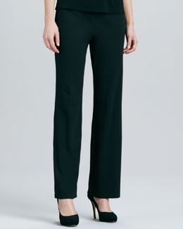 Eileen Fisher Straight-Leg Ponte Pants