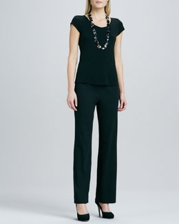 Eileen Fisher Straight-Leg Ponte Pants, Petite