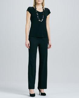 Eileen Fisher Straight-Leg Ponte Pants, Women's