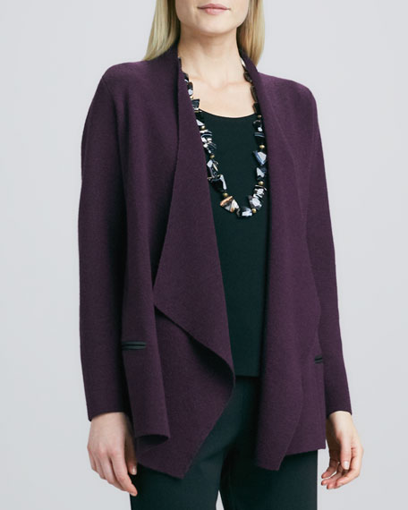 Angled Open-Front Jacket