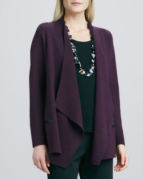 Angled Open-Front Jacket, Women's