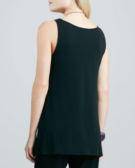 Silk Jersey Tunic Tank, Women's