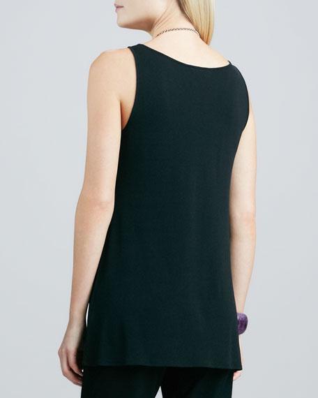 Silk Jersey Tunic Tank, Women's