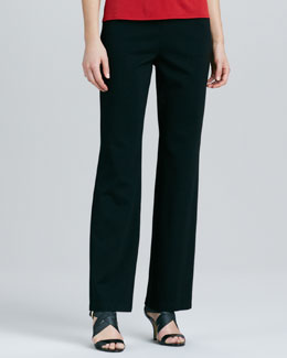 Eileen Fisher Ponte Straight-Leg Pants