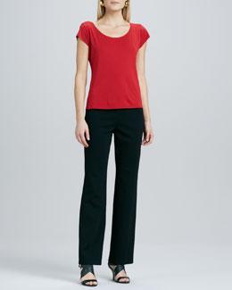 Eileen Fisher Ponte Straight-Leg Pants, Women's