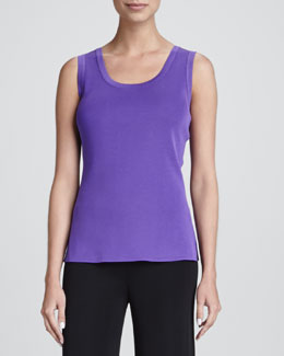 Misook Amy Scoop-Neck Tank, Petite