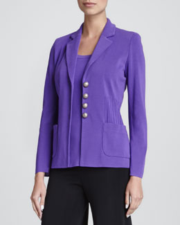 Misook Angelique Four-Button Jacket, Petite