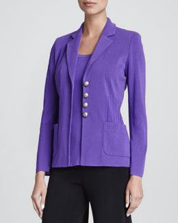 Misook Angelique Four-Button Jacket, Women's