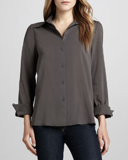 Alice + Olivia Brazil Button-Down Top