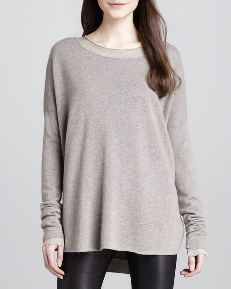 Loose Wool-Cashmere Sweater