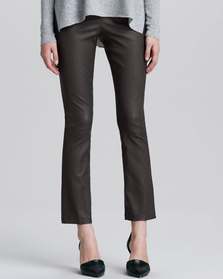 Cropped Leather Pants, Elephant