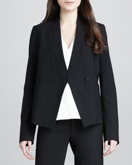 Relaxed Crepe Blazer