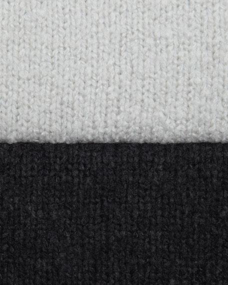 Rib-Trim Circle Cardigan