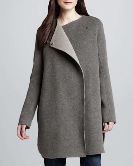 Asymmetric Felt Coat