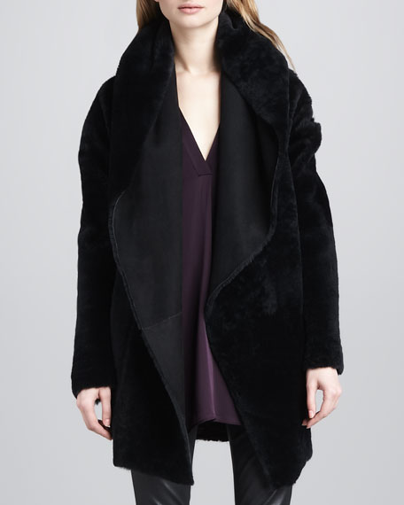 Vince Draped Shearling Jacket