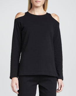 Joan Vass Open-Shoulder Top