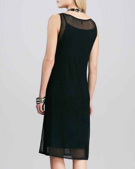 Sleeveless Mesh Dress, Petite