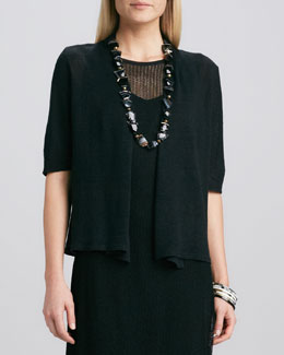 Eileen Fisher Half-Sleeve Cardigan