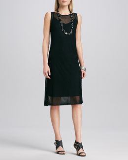 Eileen Fisher Sleeveless Mesh Dress
