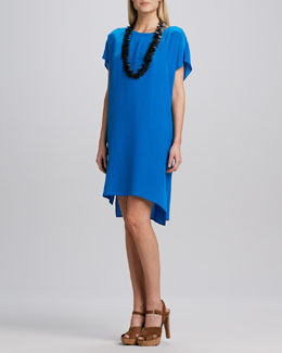 Eileen Fisher Silk Crepe de Chine Layering Dress