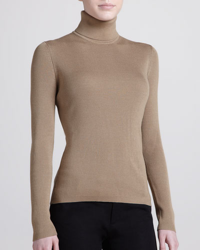 Michael Kors Ribbed Cashmere Turtleneck