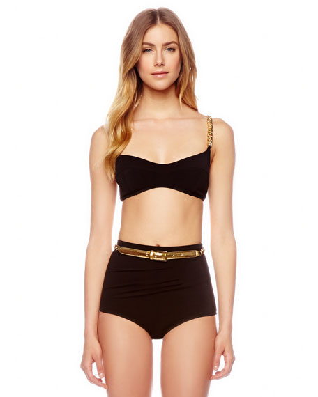 Chain-Strap Two-Piece Swimsuit