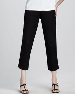 Eileen Fisher Slim Twill Ankle Pants, Women's