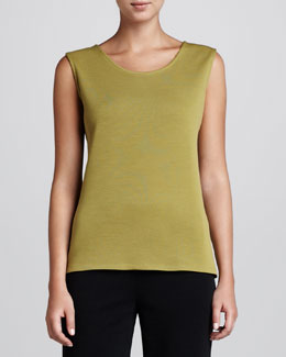 Caroline Rose Wool Flat-Knit Long Tank