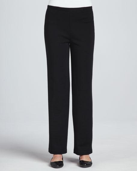 Flat Wool-Knit Pants