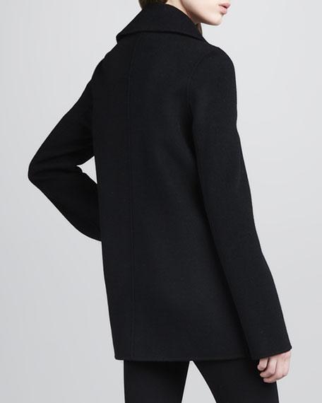 Felt Pea Coat, Black