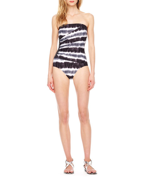 Striped Side-Zip Maillot