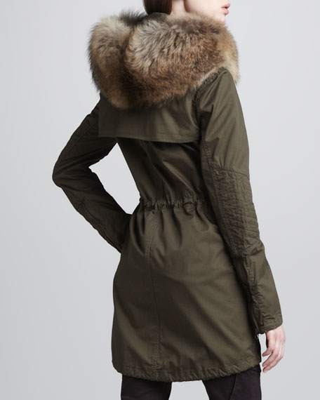 Fur-Collar Coat