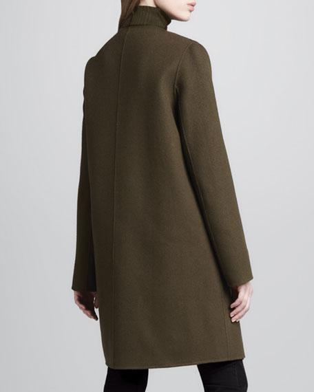Military-Style Felt Coat