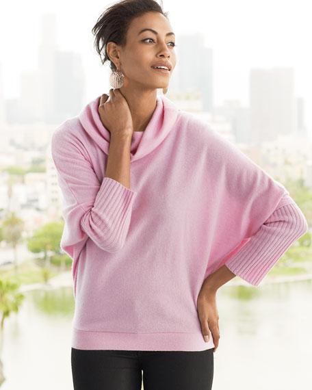 Cashmere Oversized Draped-Neck Sweater