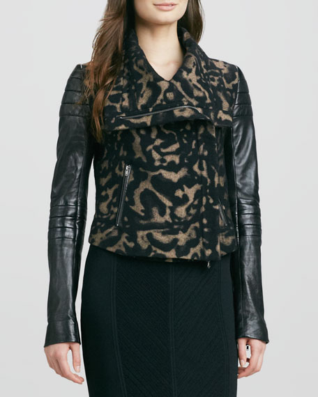 Marvella Leopard-Print Jacket