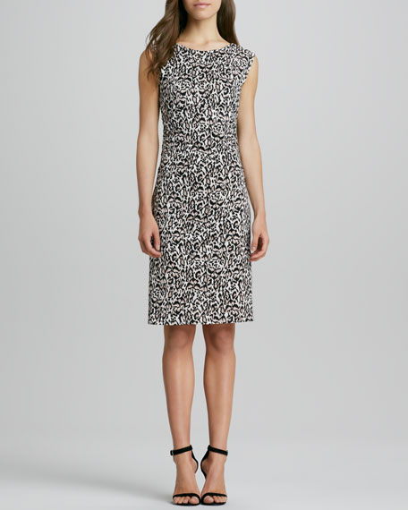 Jolene Animal-Print V-Back Dress