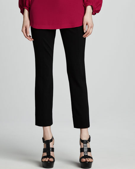 Carissa Cropped Ponte Knit Pants