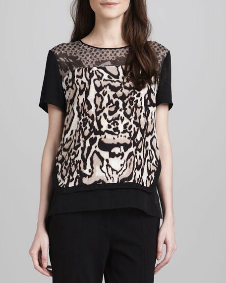 Becky Animal-Print Blouse