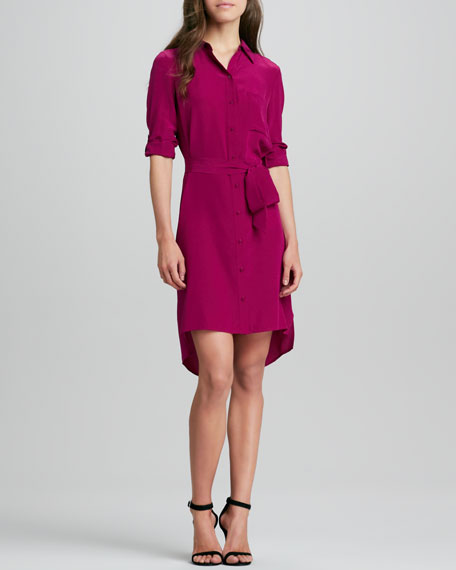 Prita Button-Front Shirtdress