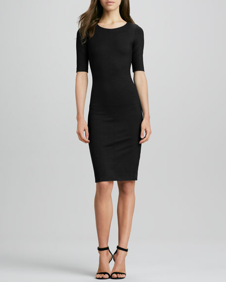 Raquel Half-Sleeve Knit Sheath Dress