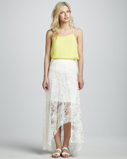 Alice + Olivia Lace Hi-Lo Skirt