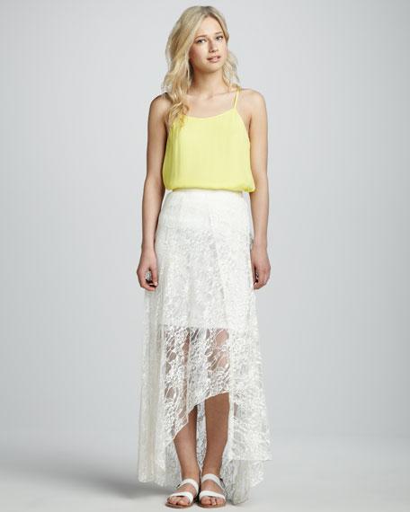 Lace Hi-Lo Skirt