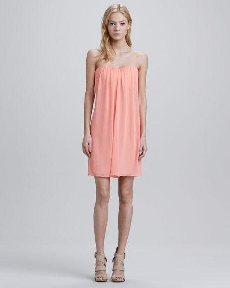 Strapless Sweetheart Chiffon Dress
