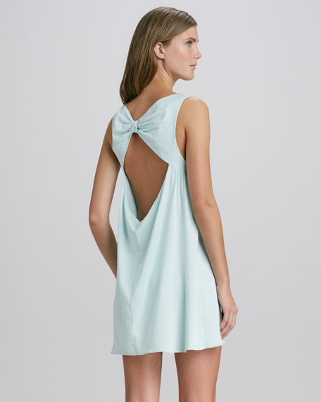 Bow-Back A-Line Dress